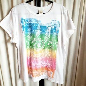 70f43d7d Maurices plus size rainbow boho tee shirt, size 3